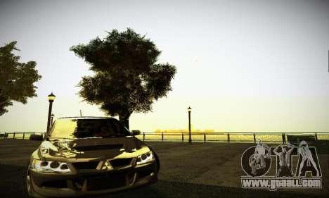 Mitsubishi Lancer Evo IX for GTA San Andreas left view