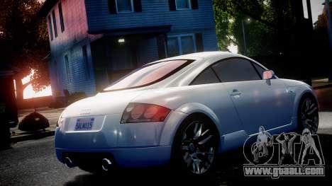 Audi TT Coupe 3.2 Quattro 2004 for GTA 4 right view