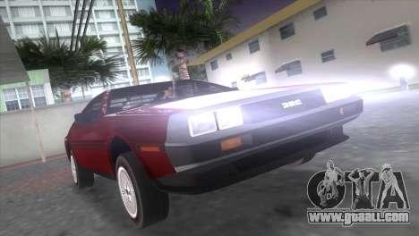 Delorean DMC for GTA Vice City left view