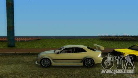 Lexus IS200 for GTA Vice City inner view