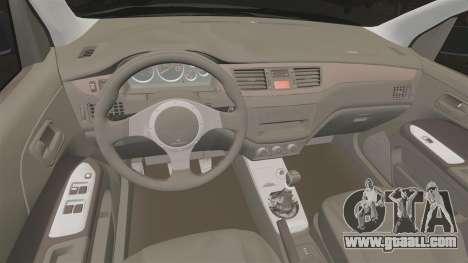 Mitsubitsi Lancer MR Evolution VIII 2004 Stock for GTA 4 inner view