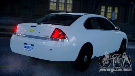 Chevy Impala Unmarked 2010 for GTA 4 left view