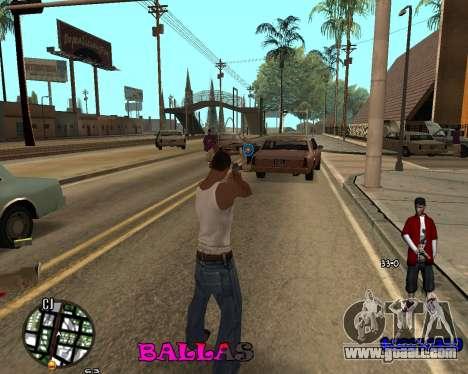 HUD The Ballas By Santiago for GTA San Andreas second screenshot