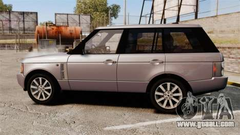 Range Rover Supercharged for GTA 4 left view