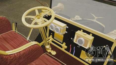 Vintage car 1910 for GTA 4 inner view