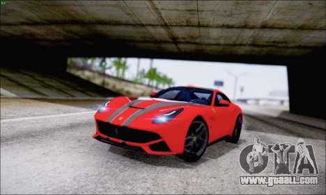 Ferrari F12 Berlinetta Horizon Wheels for GTA San Andreas upper view