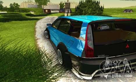 Mitsubishi Evo IX Wagon S-Tuning for GTA San Andreas bottom view