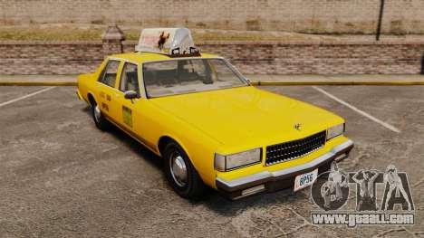 Chevrolet Caprice 1987 L.C.C. Taxi for GTA 4