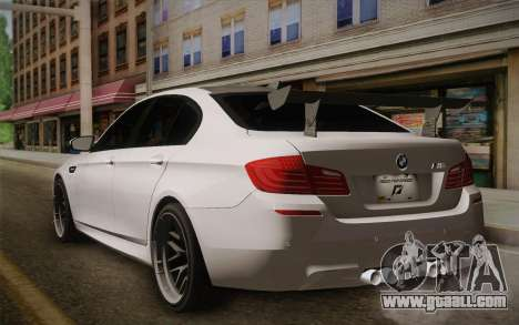 BMW M5 2012 for GTA San Andreas left view