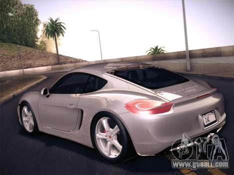 Porsche Cayman S 2014 for GTA San Andreas back view