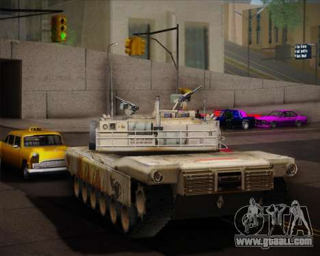 Abrams Tank Indonesia Edition for GTA San Andreas right view