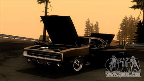 Dodge Charger 440 (XS29) 1970 for GTA San Andreas back left view