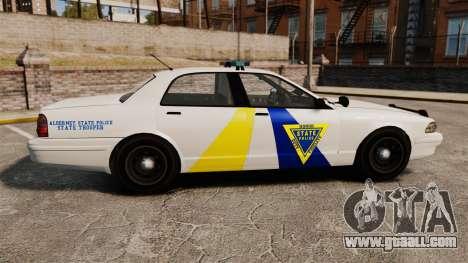 GTA V Police Vapid Cruiser Alderney state for GTA 4 left view
