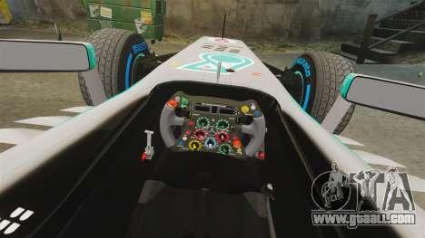 Mercedes AMG F1 W04 v2 for GTA 4 inner view