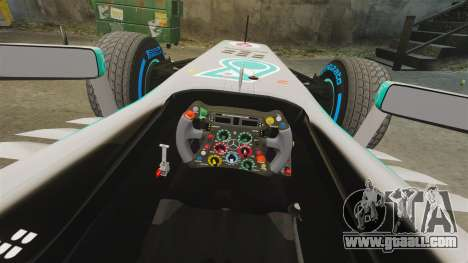 Mercedes AMG F1 W04 v5 for GTA 4 inner view