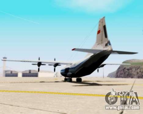 The an-12 Aeroflot for GTA San Andreas left view