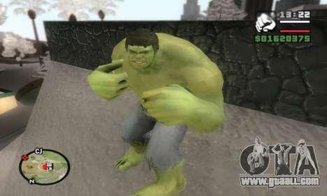 Hulk for GTA San Andreas third screenshot