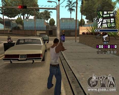 (C) HUD-by Gabbi_Stafford for GTA San Andreas third screenshot