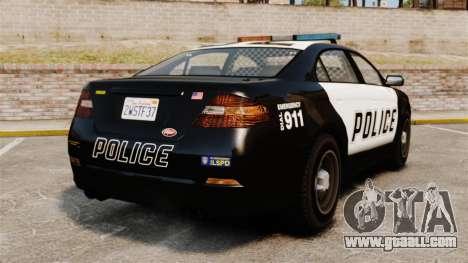 GTA V Vapid Police Interceptor for GTA 4 back left view