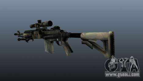 Sniper rifle M21 Mk14 v4 for GTA 4 second screenshot