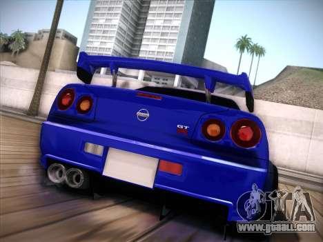 Nissan Skyline GTR for GTA San Andreas left view