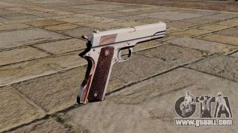 45 M1911 Colt pistol for GTA 4 second screenshot