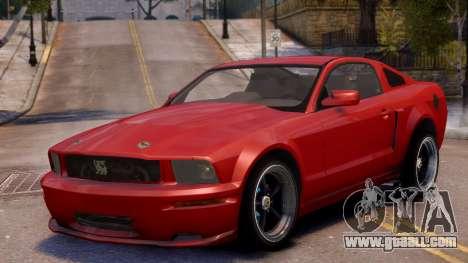 Shelby Terlingua Mustang for GTA 4 inner view