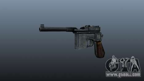 Mauser C96 self-loading pistol for GTA 4