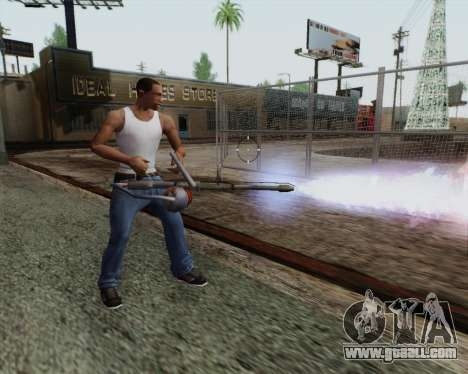 New flamethrower for GTA San Andreas