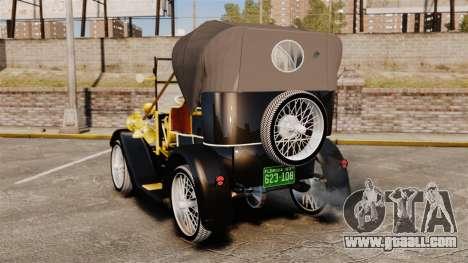 Vintage car 1910 for GTA 4 back left view