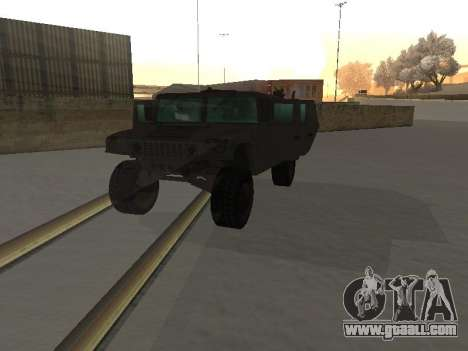Hummer H1 from the game Resident Evil 5 for GTA San Andreas inner view