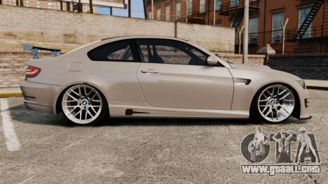 BMW M3 E92 GTS 2010 for GTA 4 left view