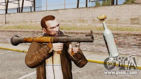 Anti-tank grenade launcher, Molotov for GTA 4 second screenshot