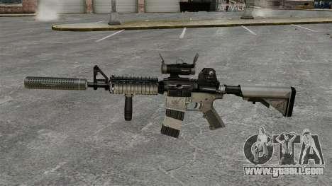 M4 carbine with silencer v2 for GTA 4 third screenshot