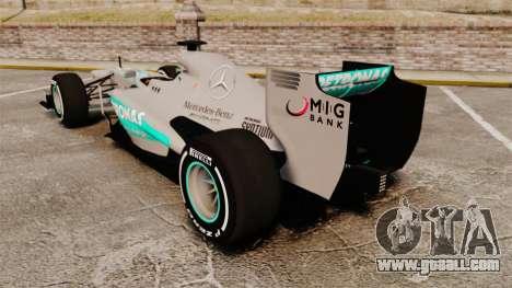 Mercedes AMG F1 W04 v5 for GTA 4 back left view