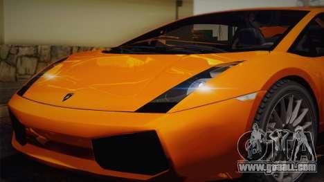 Lamborghini Gallardo Superleggera for GTA San Andreas engine