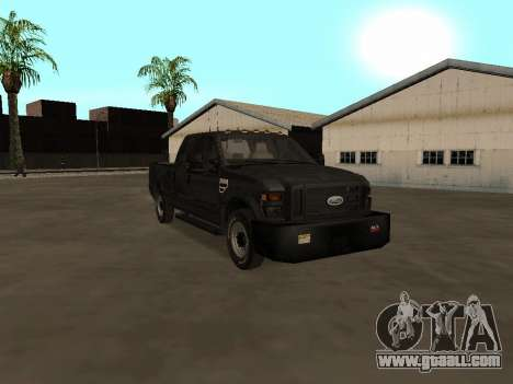Ford F-350 ATTF for GTA San Andreas back view