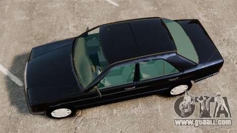 Mercedes-Benz E190 W201 for GTA 4 right view