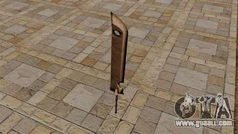 Sword Of Zabuzy for GTA 4