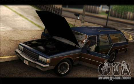 Chevrolet Caprice 1989 Station Wagon for GTA San Andreas back left view