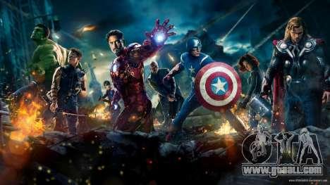Boot screen Avengers for GTA 4