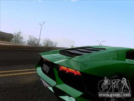 Lamborghini Aventador LP720-4 2013 for GTA San Andreas bottom view