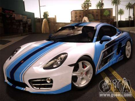 Porsche Cayman S 2014 for GTA San Andreas side view