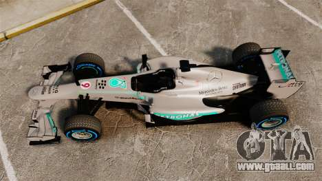 Mercedes AMG F1 W04 v2 for GTA 4 right view