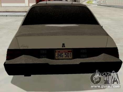 North Yanton Police Esperanto from GTA 5 for GTA San Andreas back left view