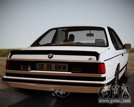 BMW E24 M635 1984 for GTA San Andreas back view