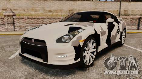 Nissan GT-R Black Edition 2012 Ski Slope Camo for GTA 4