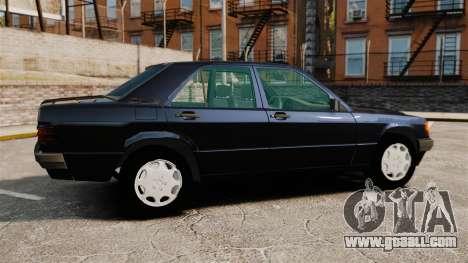 Mercedes-Benz E190 W201 for GTA 4 left view