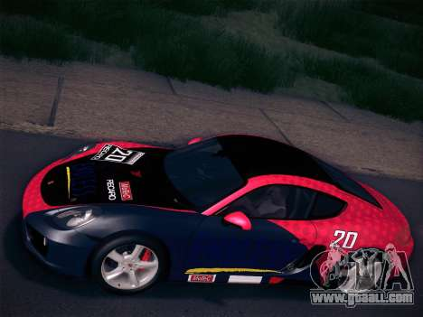 Porsche Cayman S 2014 for GTA San Andreas bottom view