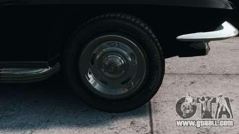 Chevrolet Corvette Stingray 427 1967 for GTA 4 back view